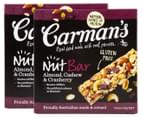 Carman's Roasted Nut Bars Hazelnut & Vanilla + Cashew & Cranberry 20pk 3