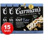 3 x Carman's Greek Style Yoghurt & Blueberry Nut Bars 5pk 1