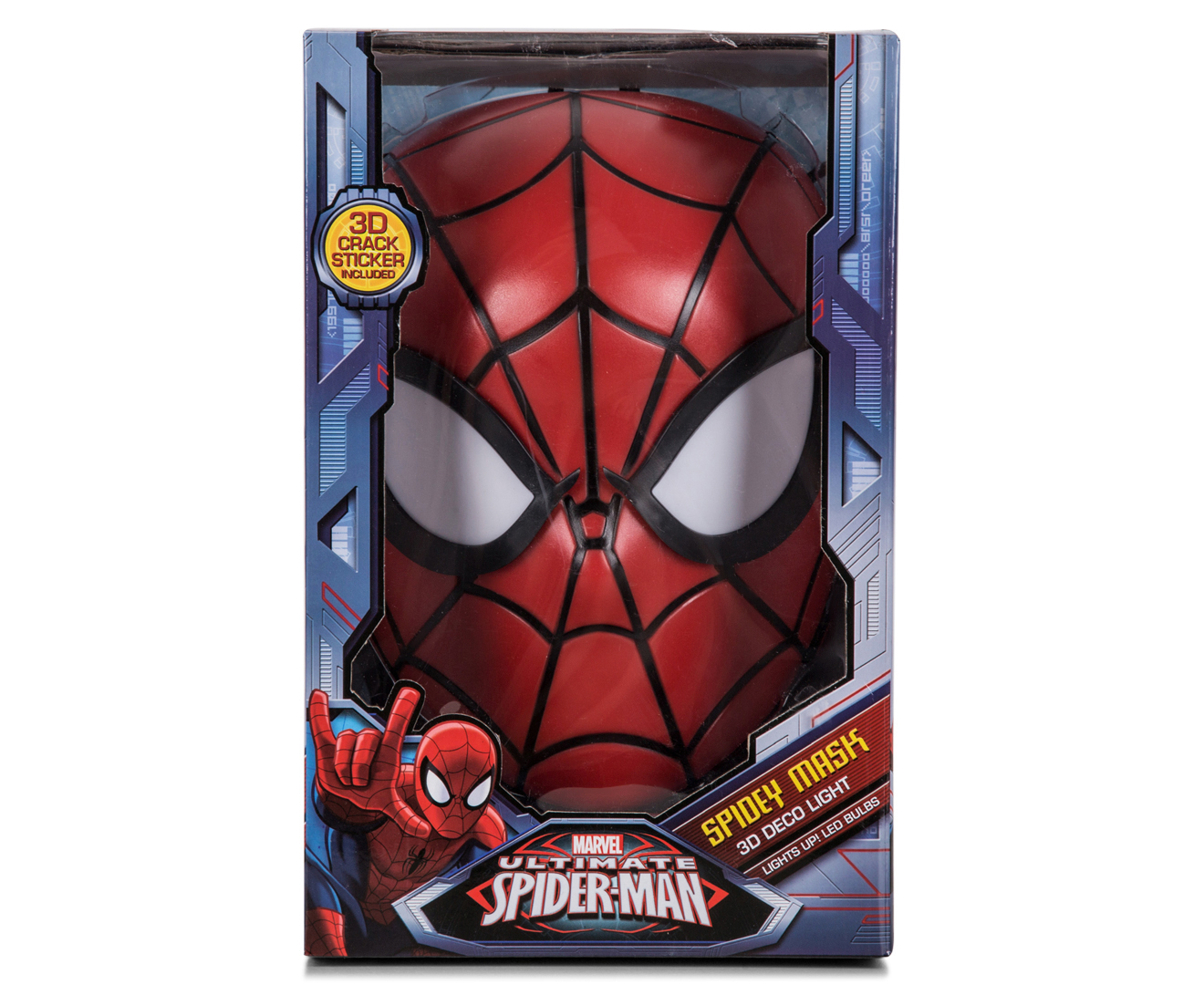 Scoopon Shopping 3D Marvel Spiderman Mask Wall Light - Red