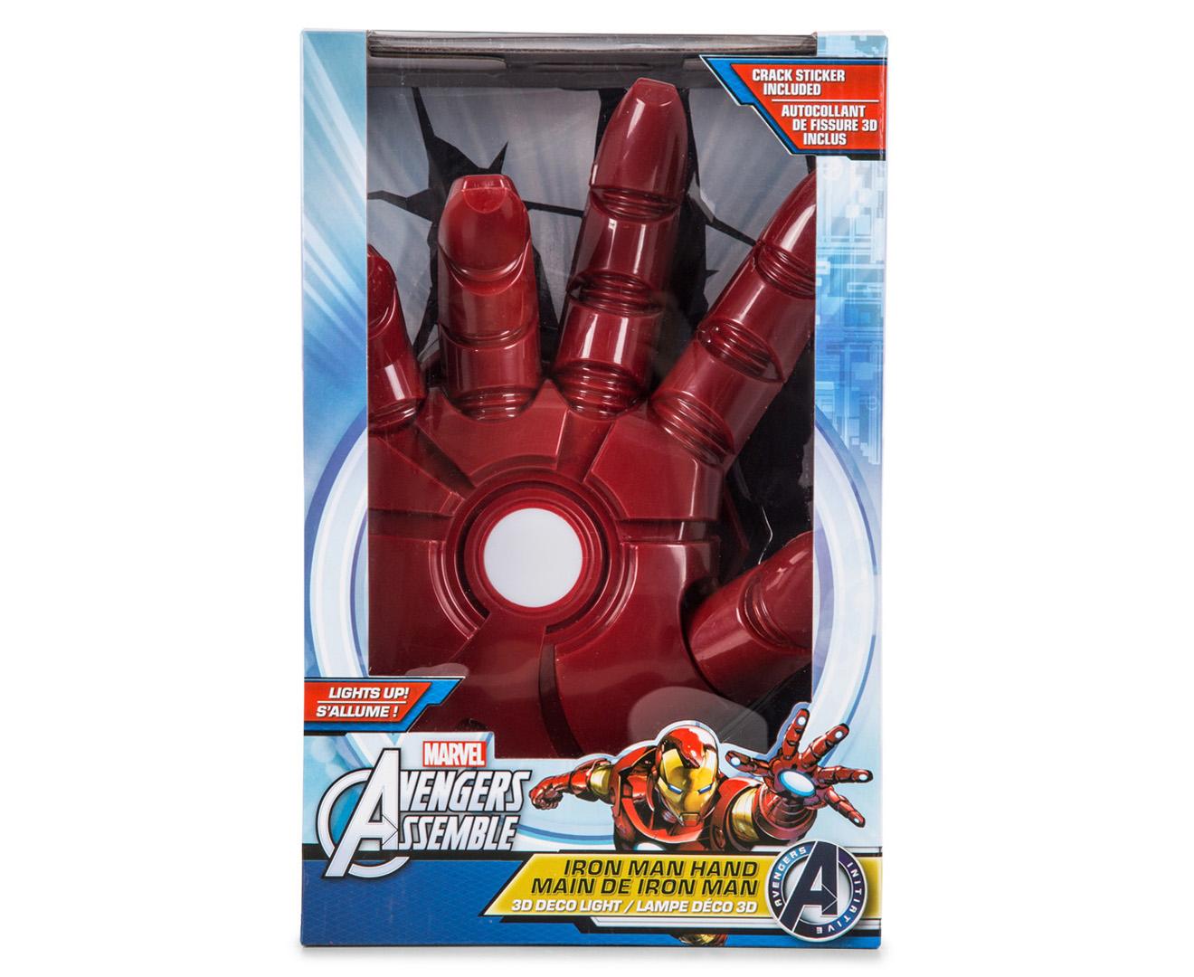 3d Marvel Iron Man Hand Wall Light Red Ironman Tees