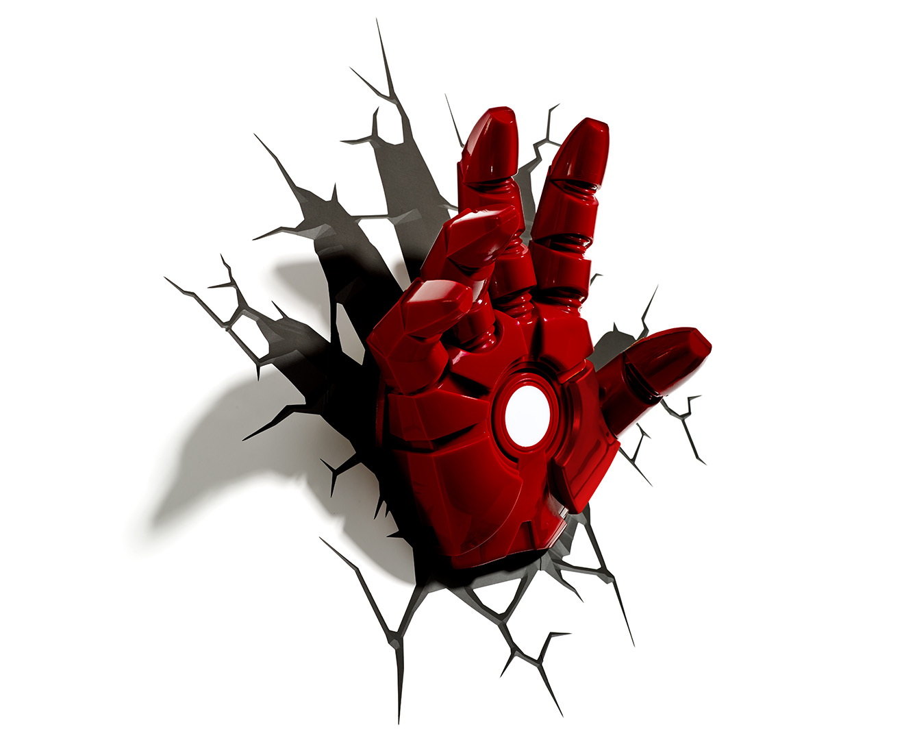 Wall Light Iron Man : 3D Marvel Iron Man Hand Wall Light - Red eBay