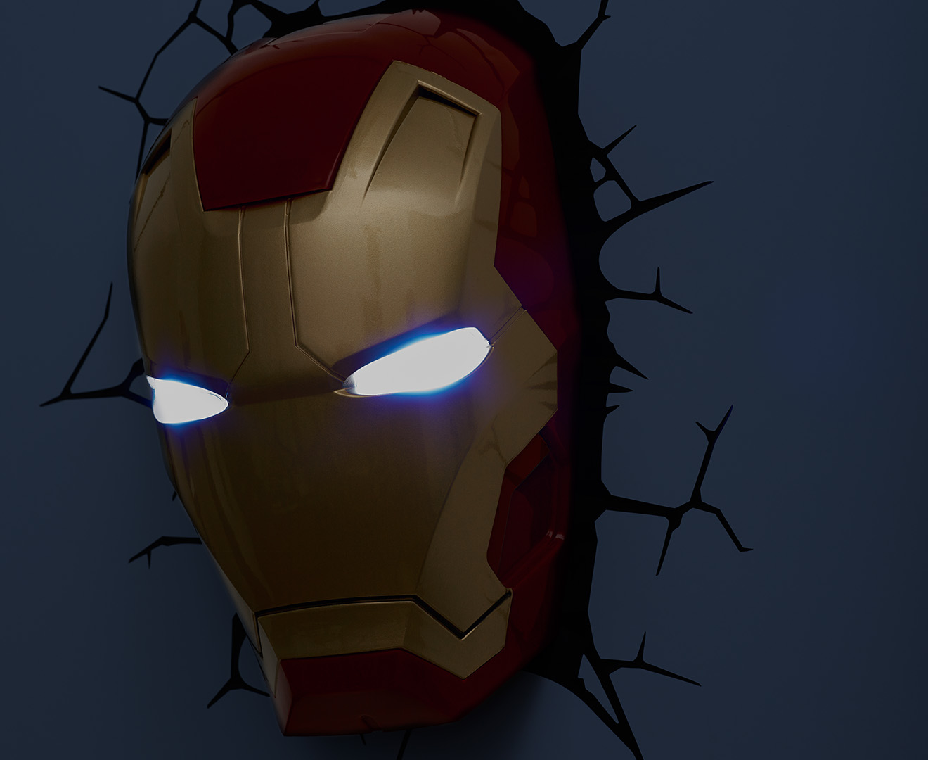 3d marvel iron man mask wall light red catch aloadofball