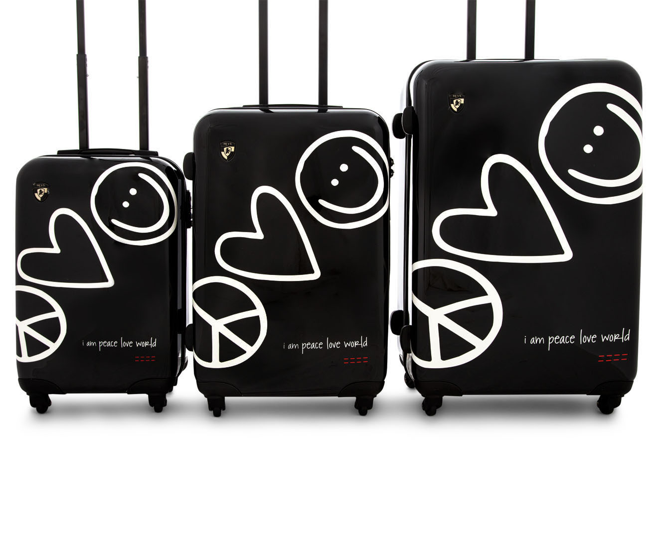Heys Peace Love World Rollercase  Piece Set Black Great Daily Deals At Australias Favourite Superstore Catch Com Au