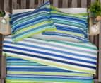 Ardor Fairhaven Reversible King Quilt Cover Set - Blue 2