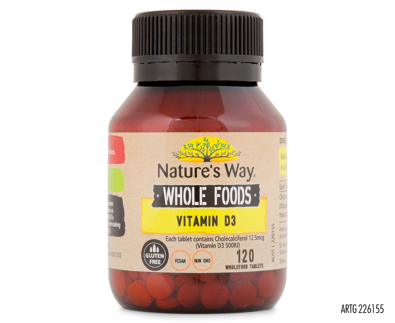 Nature\'s Way Whole Foods Vitamin D3 120 Tabs