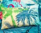 Retro Home Flamingo Double Quilt Cover Set - Aqua 6