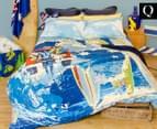 Retro Home Australia Queen Bed Quilt Cover Set - Blue 1