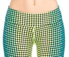 Calvin Klein Performance Women's Jumble Print Crop Tight - Tropez 3