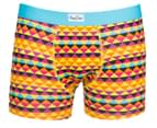 Happy Socks Men's Zig Zag Boxer Brief - Orange/Multi 1