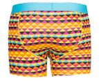 Happy Socks Men's Zig Zag Boxer Brief - Orange/Multi 2