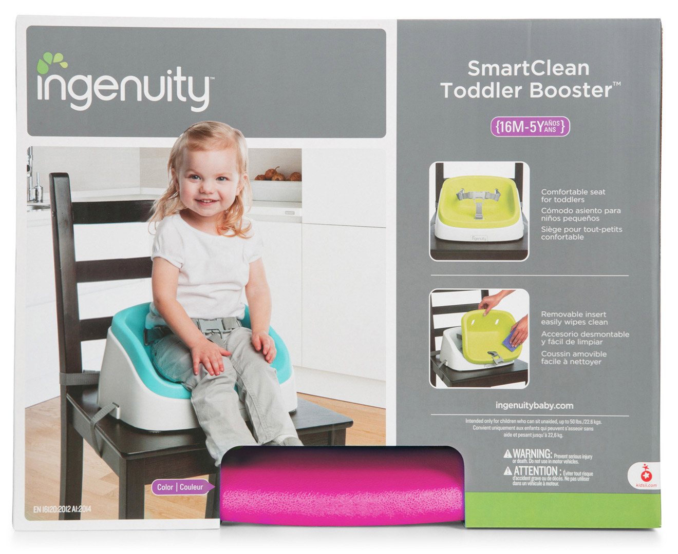 Ingenuity SmartCleanTM Toddler Booster