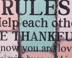 Family Rules Colour Blocks 40x80cm Wooden Wall Plaque 3