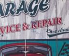 Garage Service & Repair 50x50cm Wooden Wall Plaque 3