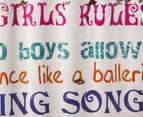 Girls' Rules 40x60cm Metal Wave Wall Hanging 3