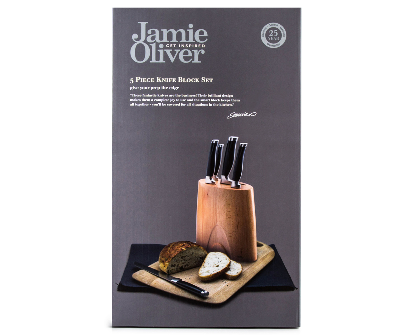 catch com au jamie oliver 5 piece knife block set black silver