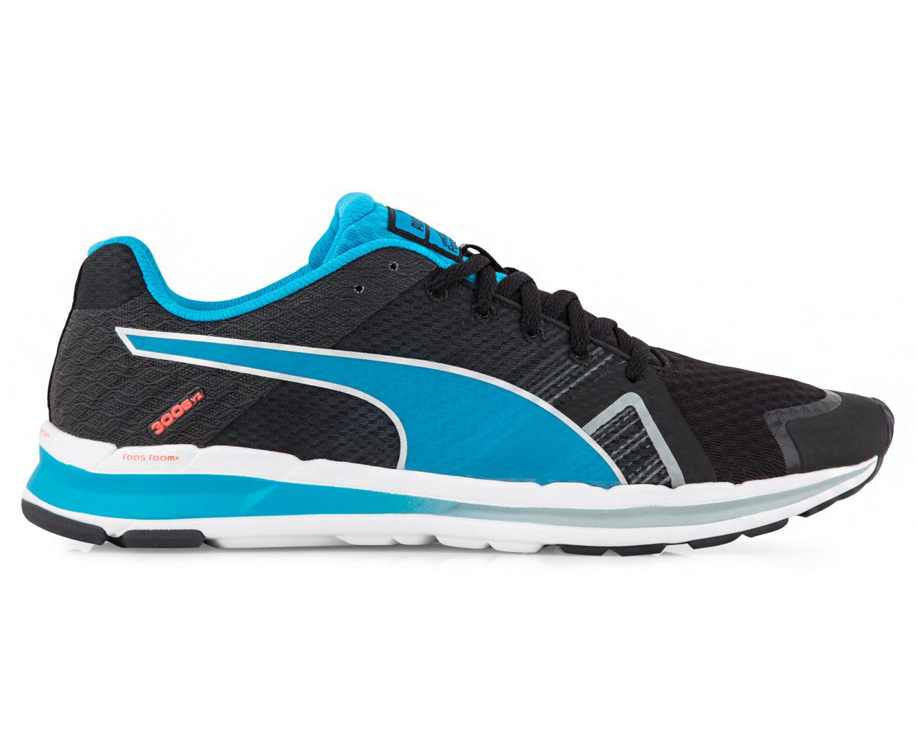 puma online, Puma Faas 300 Blue Red Running Shoes,puma