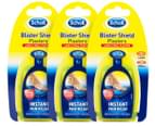 3 x Scholl Clear Gel Blister Shield Plasters 1