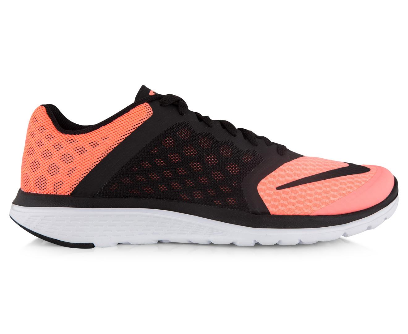 22ba8549ce2 Nike Women s FS Lite Run 3 Shoe - Lava Black White