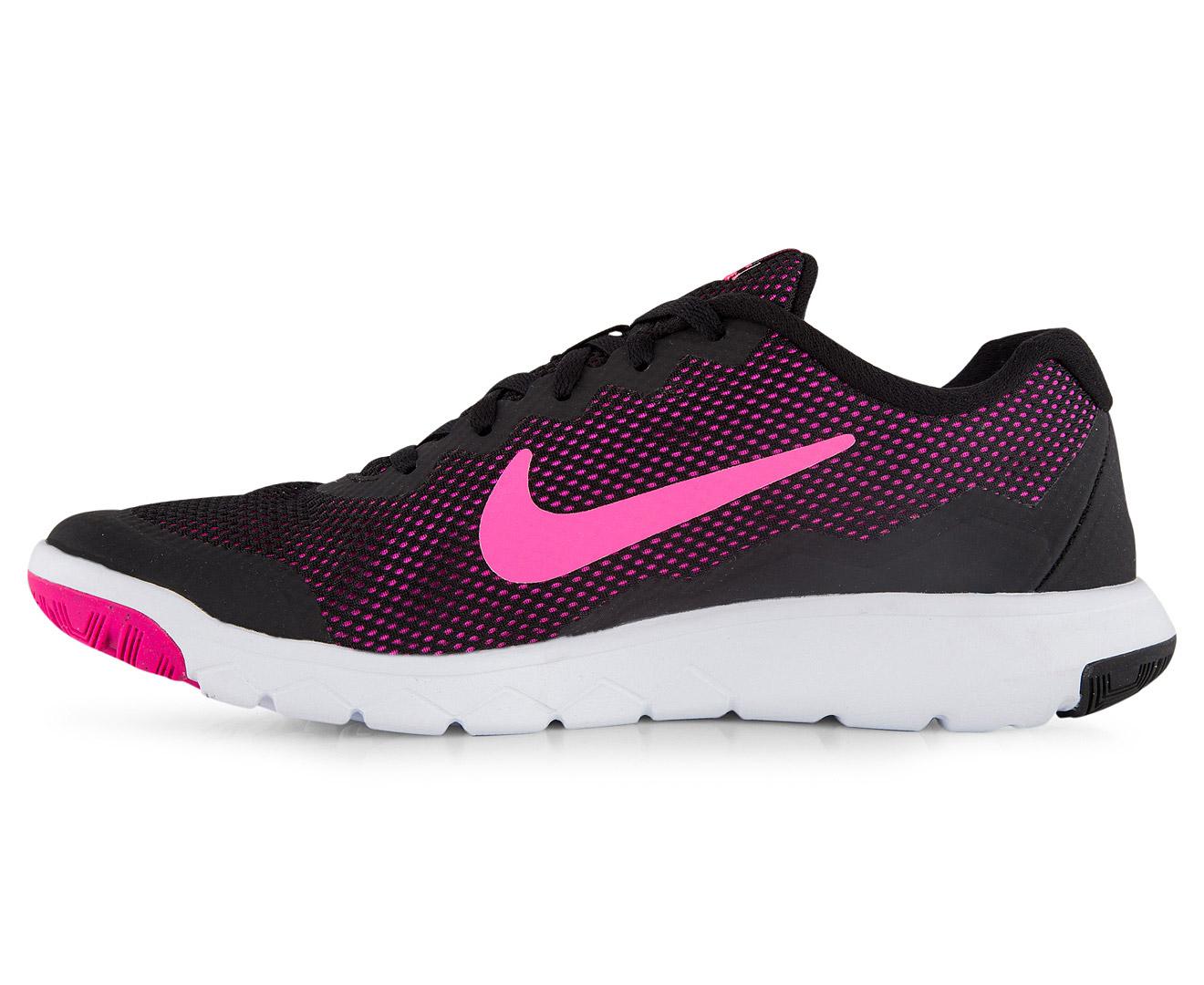 nike women 39 s flex experience rn 4 shoe black pink foil. Black Bedroom Furniture Sets. Home Design Ideas