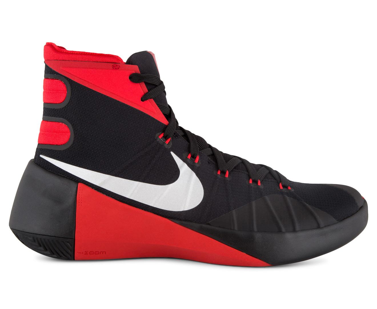 hot sale online 64844 d3848 ... uk nike mens hyperdunk 2015 basketball shoe black metallic silver  university red catch.au 07e96