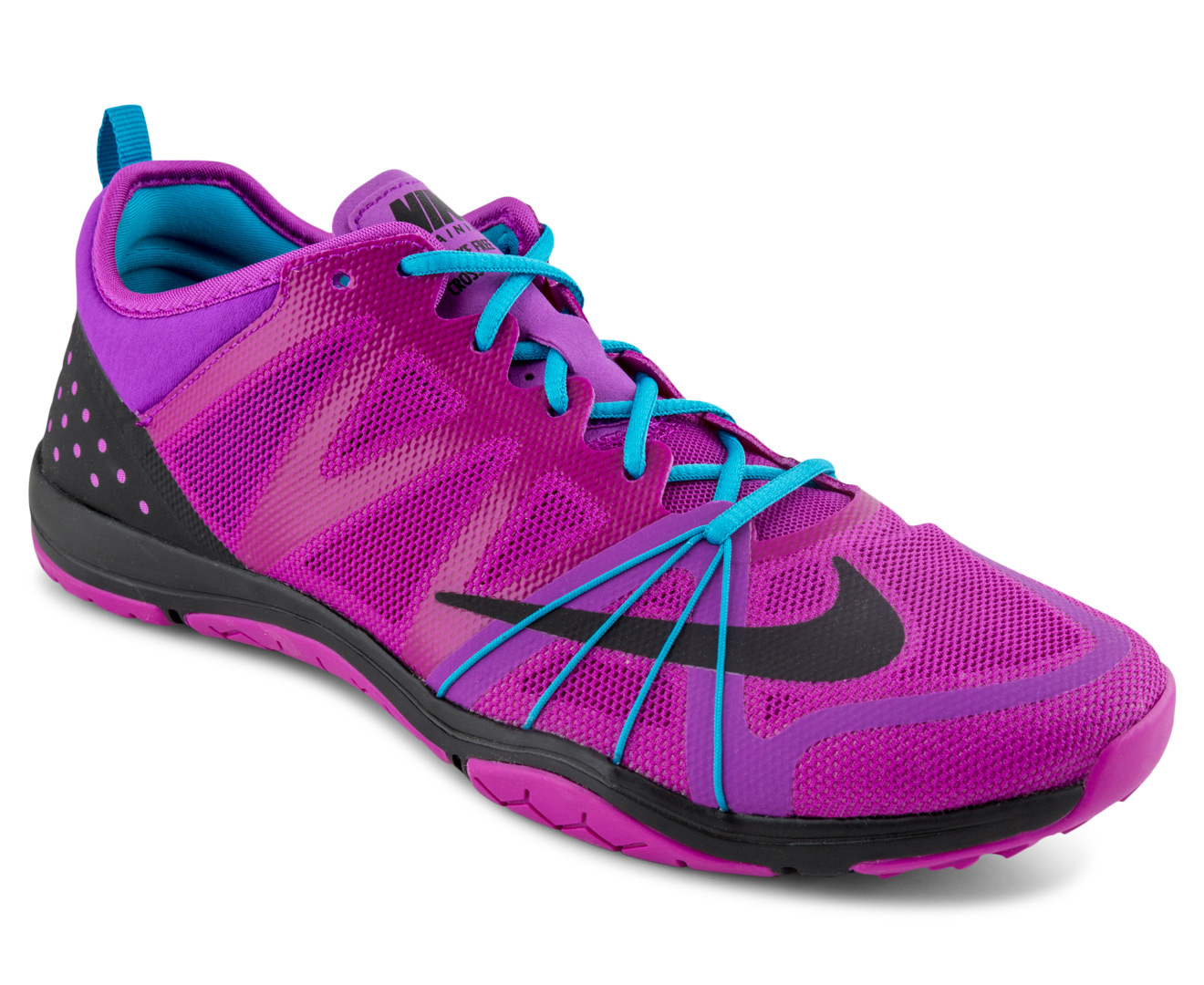 Black Purple Blue Women S Cross Training Shoes