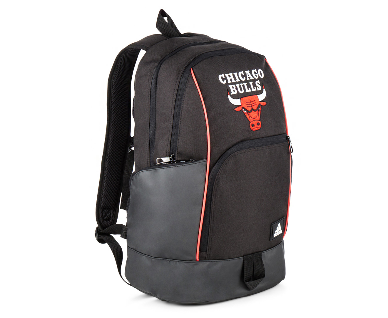 Adidas Chicago Bulls Backpack - Black Black Reflective Bright Red ... 80409ea39