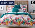 Sheridan Botanik King Bed Standard Quilt Cover Set - Fiesta    1