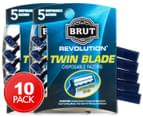 2 x Brut Revolution Twin Blade Disposable Razors 5pk 1
