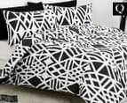 Belmondo Sphinx Queen Quilt Cover Set - Black/White 1