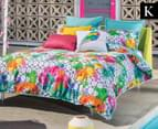 KAS Lucie King Bed Quilt Cover Set - Multi 1
