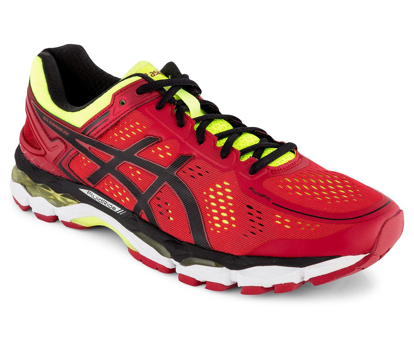 best selling cheapest price buy popular ASICS Men's GEL-Kayano 22 Shoe - Red Pepper/Black/Flash Yellow