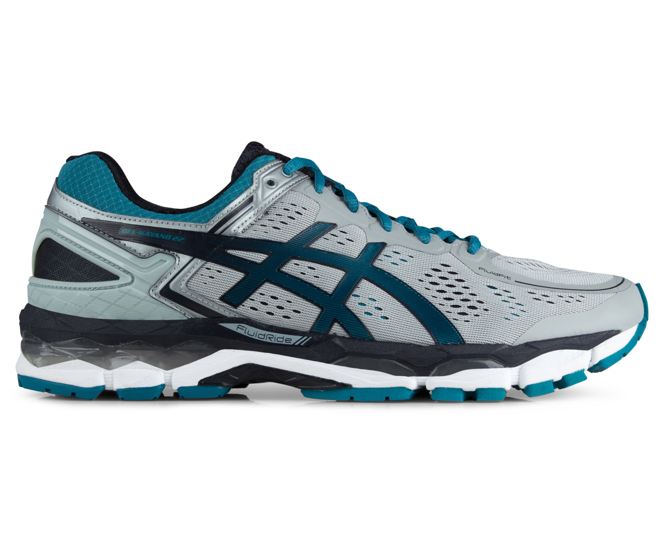 ... Catch.com.au ASICS Mens GEL-Kayano 22 Shoe - Silver GreyOcean DepthSky  ...