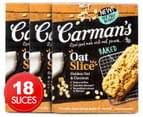 3 x Carman's Oat Slice Golden Oat & Coconut 210g 6pk 1