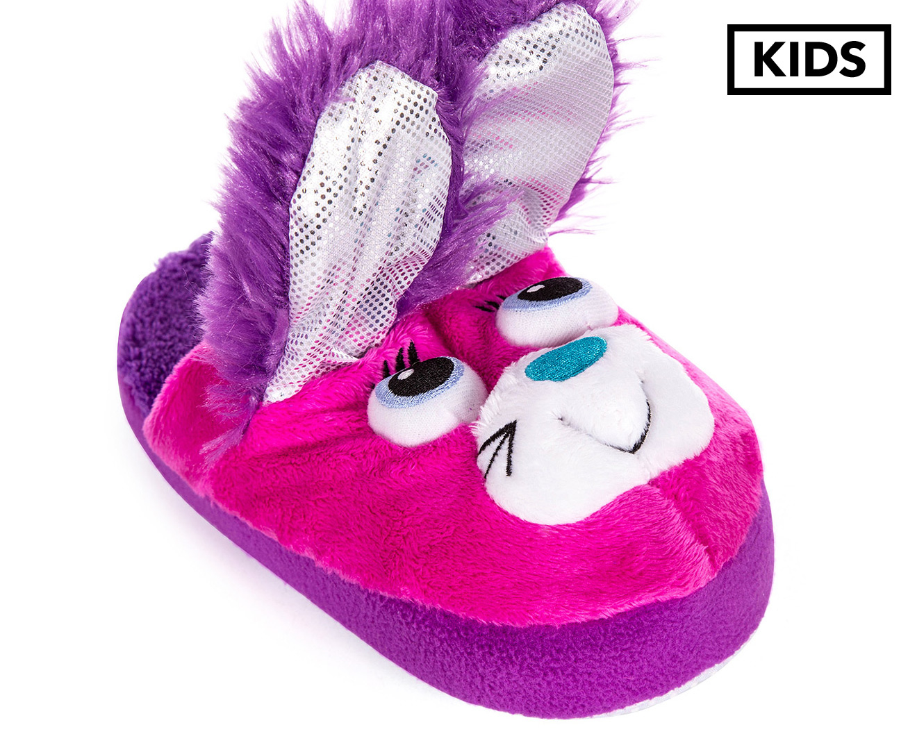 7ac7a00ac54 Stompeez Kids  Bunny Slippers - Purple