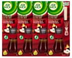 4 x Air Wick Seasonal Collection Reed Diffuser Crackling Fire & Cinnamon Spice 50mL 1