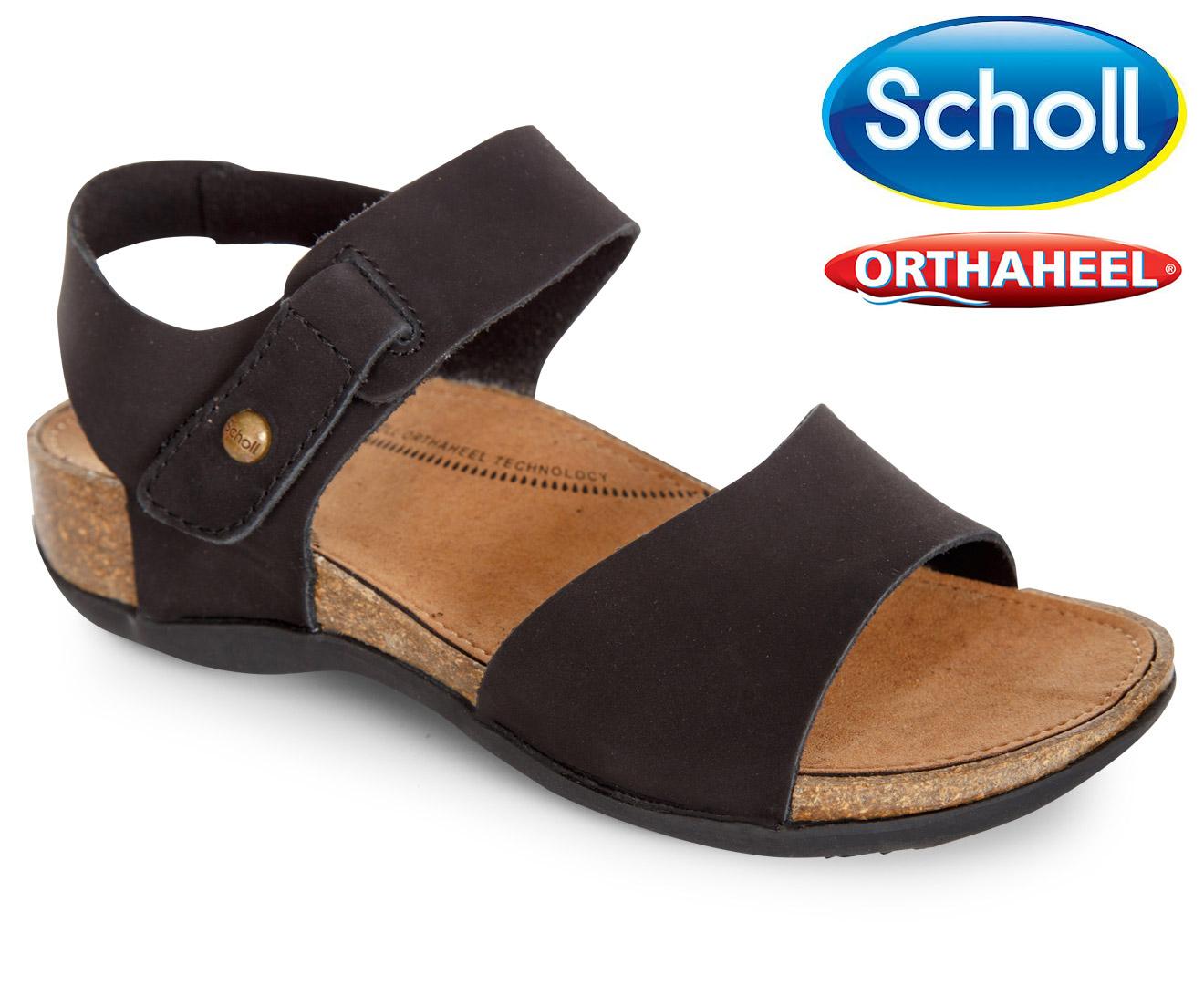 Devonport Orthaheel Sandals - Black