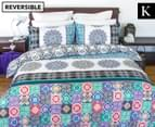 Apartmento Boho Reversible King Bed Quilt Cover Set - Multi 1