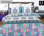 Apartmento Boho Reversible Queen Quilt Cover Set - Multi 1