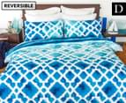 Apartmento Cayo Reversible Double Quilt Cover Set - Blue 1