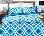 Apartmento Cayo Reversible Single Quilt Cover Set - Blue 1