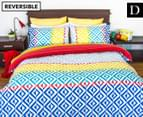 Apartmento Carlos Reversible Double Quilt Cover Set - Multi 1
