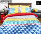 Apartmento Carlos Reversible King Bed Quilt Cover Set - Multi 1
