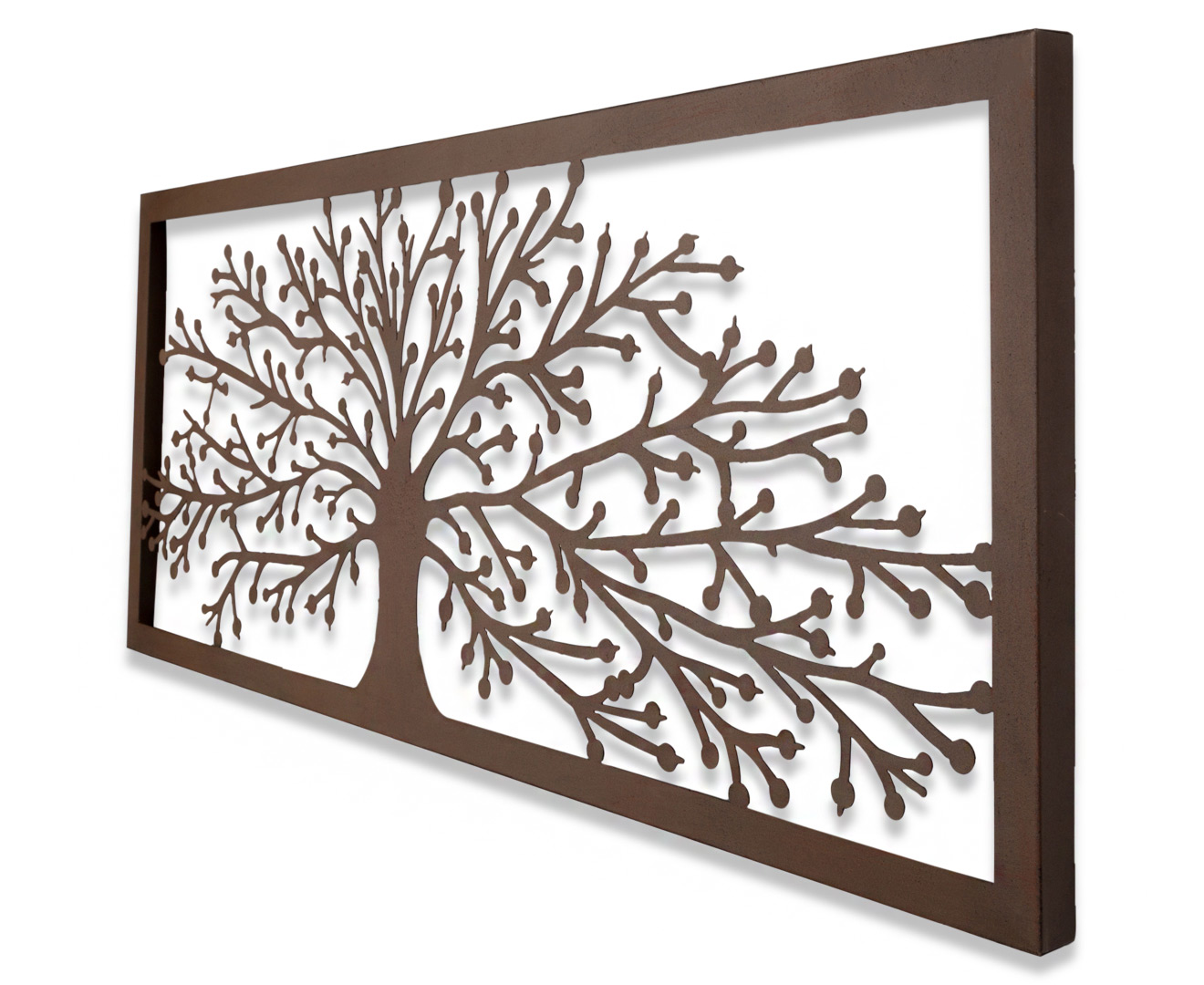 Art Décor: Floating Tree Of Life 115x45cm Laser-Cut Metal Wall Art