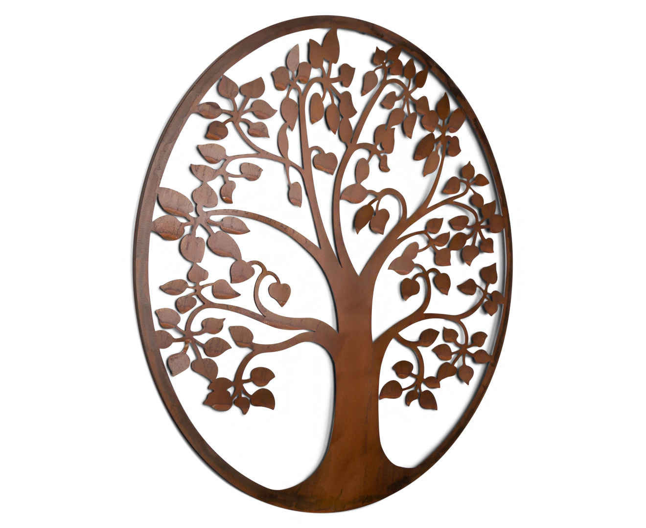 Art Décor: Circular Floating Tree Of Life 99cm Metal Laser-Cut Wall