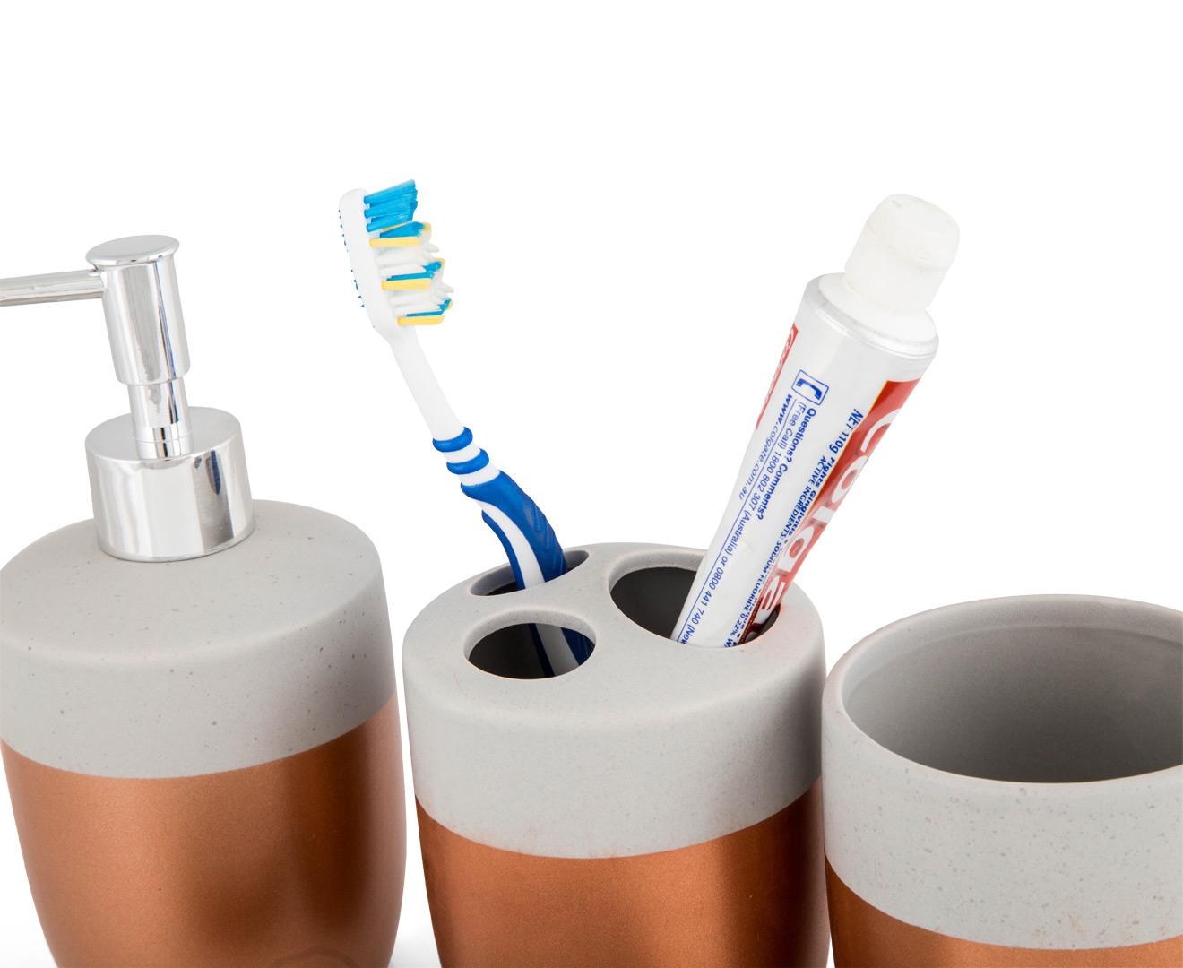 Cooper co bathroom accessories 4 pack copper concrete for Bathroom accessories australia