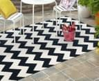 Eco Chevron 330x240cm Indoor/Outdoor Rug - Navy 2