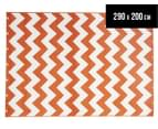 Eco Chevron 290x200cm Indoor/Outdoor Rug - Orange 1