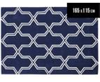 Lattice 165x115cm Premium Acrylic Rug - Navy 1