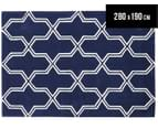 Lattice 280x190cm Premium Acrylic Rug - Navy 1