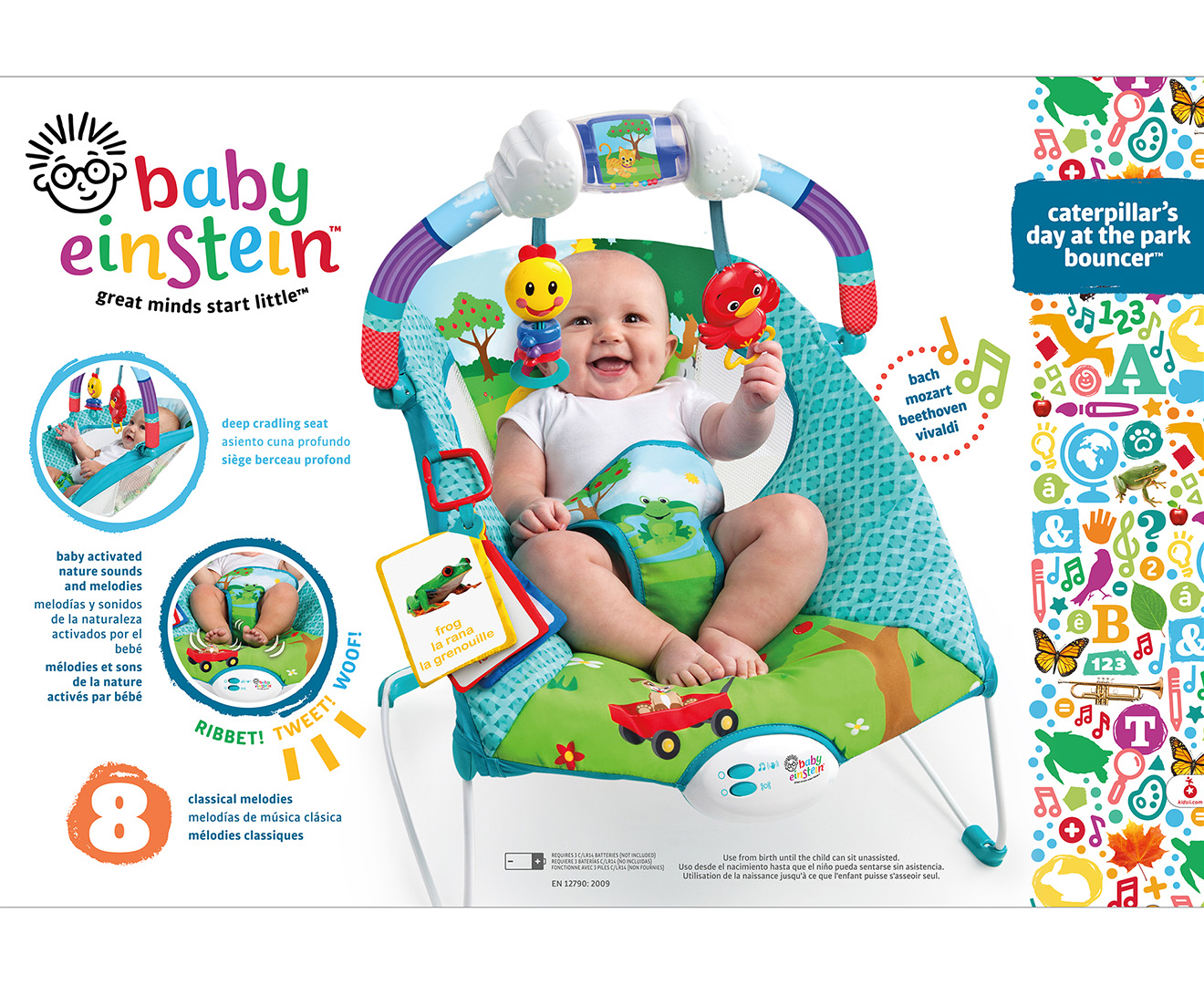 7aa7848fafee Baby Einstein Caterpillar s Day At The Park Bouncer